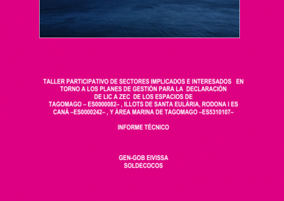Report Participatory Workshop Natura 2000 Network Tagomago